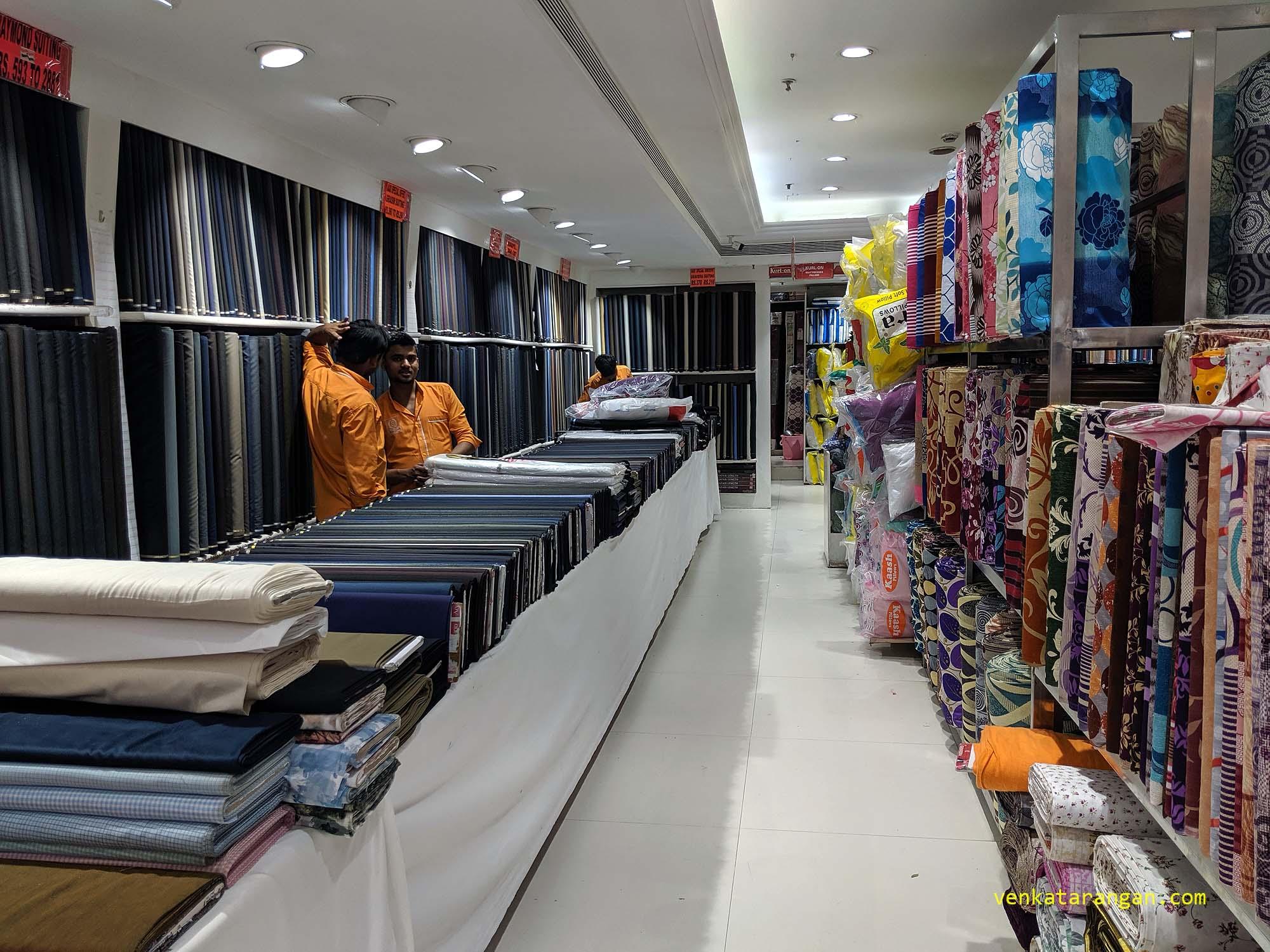 Gents Suiting section - Saravana Stores, Panagal Park - The Legend