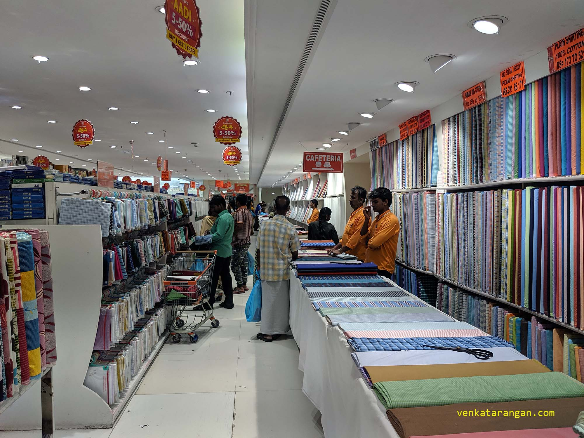 Gents Shirting section - Saravana Stores, Panagal Park - The Legend