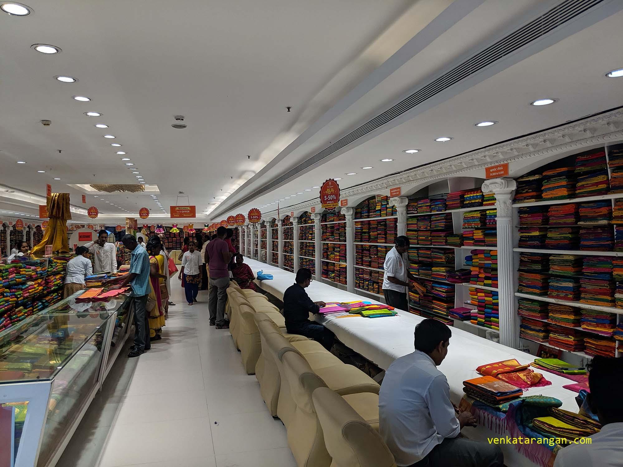 Sarees section - Saravana Stores, Panagal Park - The Legend