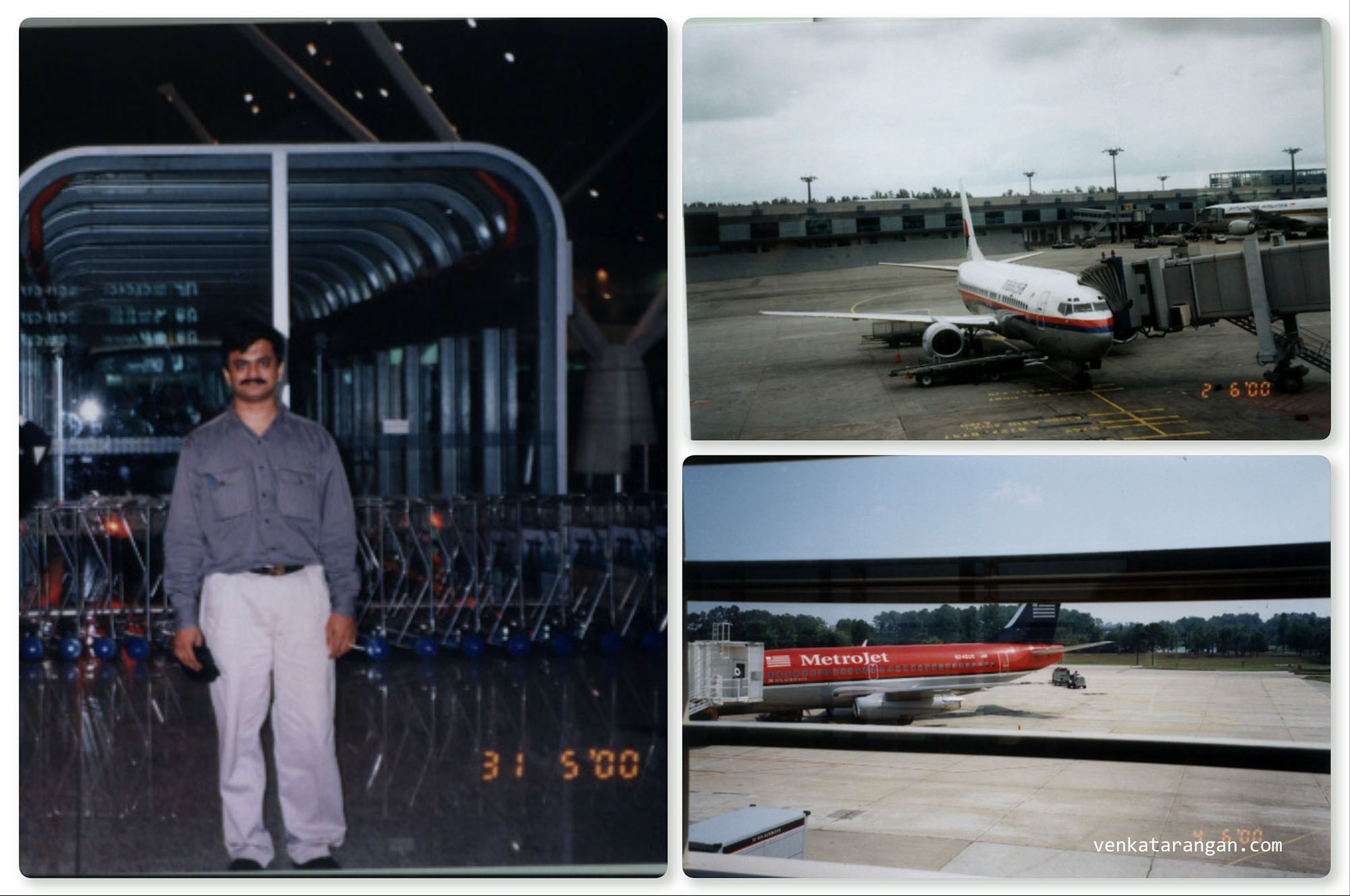 I had traveled to the USA via KL, Malaysia. Seen top left is Kuala Lumpur International Airport in 2000