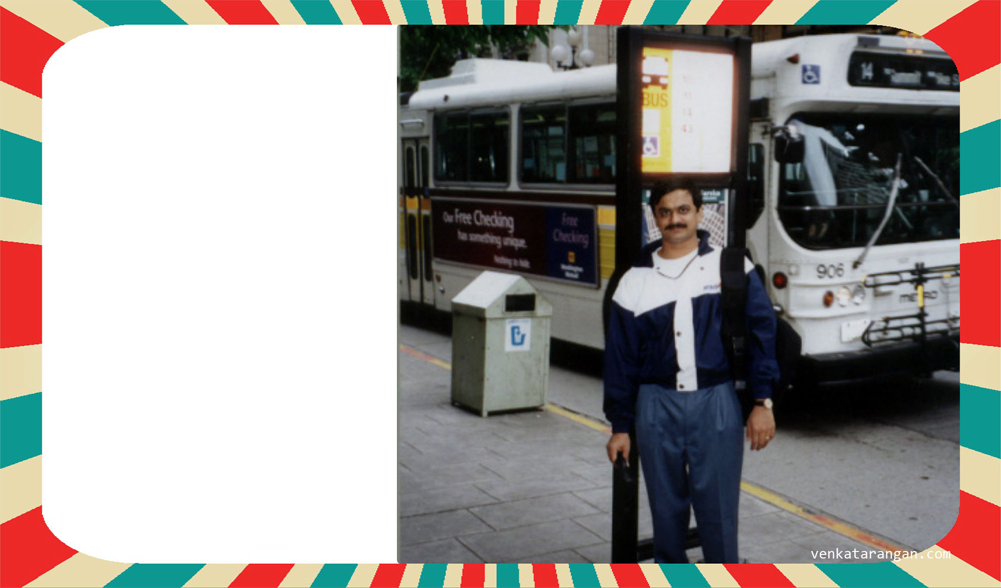 Venkatarangan in downtown Seattle in 2000