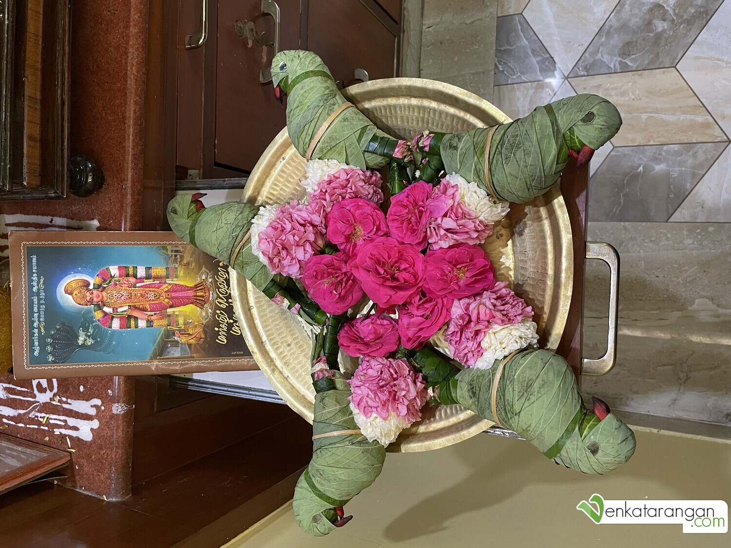 Two pairs of lovely Srivilliputhur parrot toys made out of leaves