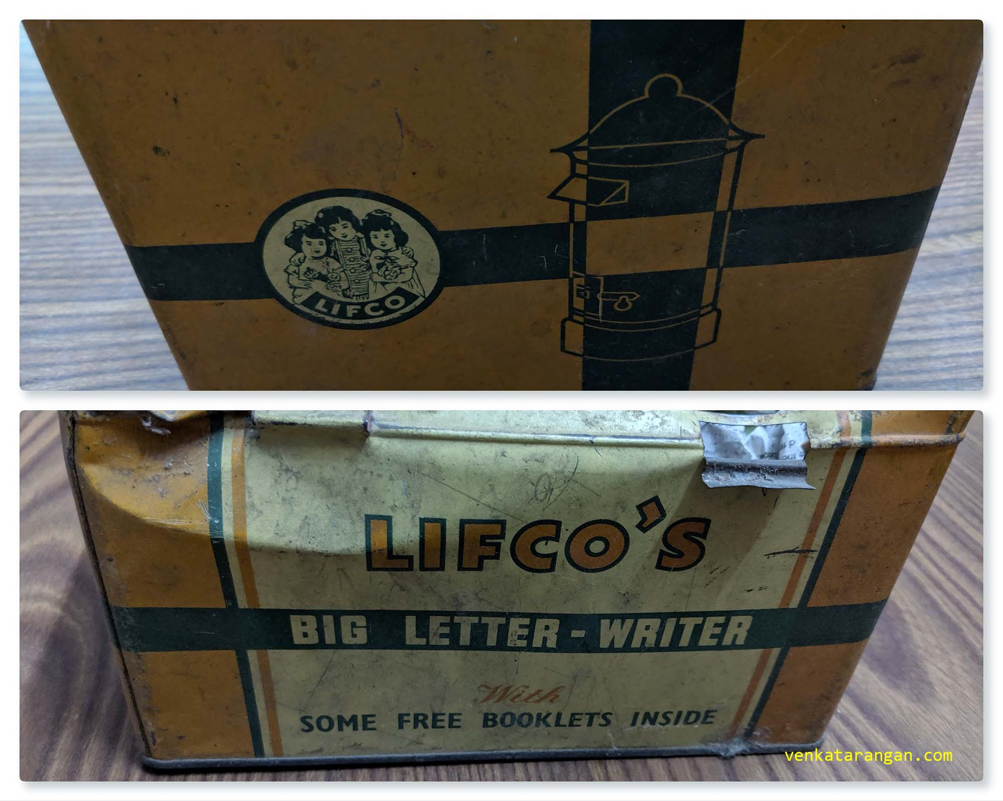 The Metal Box that was used to ship LIFCO's Big Letter Writer