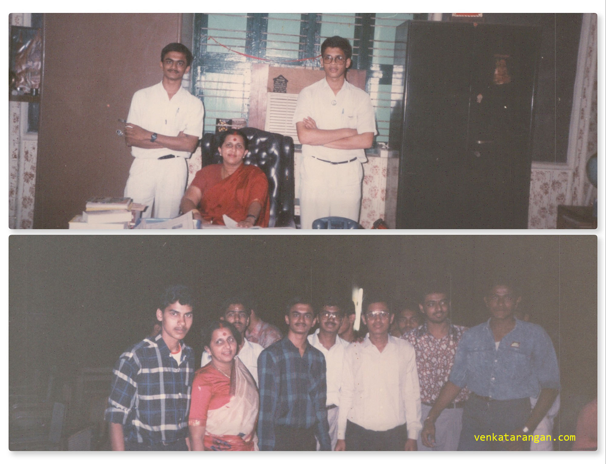 With Mrs BKK Pillai of Shrine Vailankanni School, T.Nagar, Chennai taken on 5th September 1991