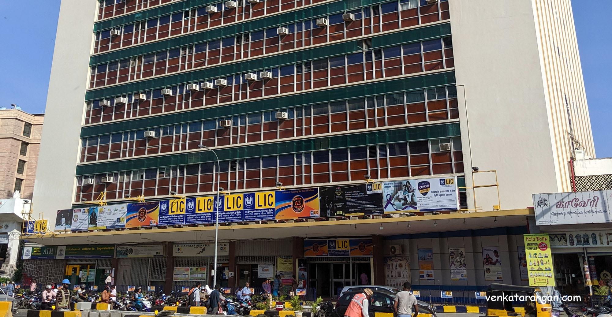 LIC Building, Chennai, Seen as on September 019