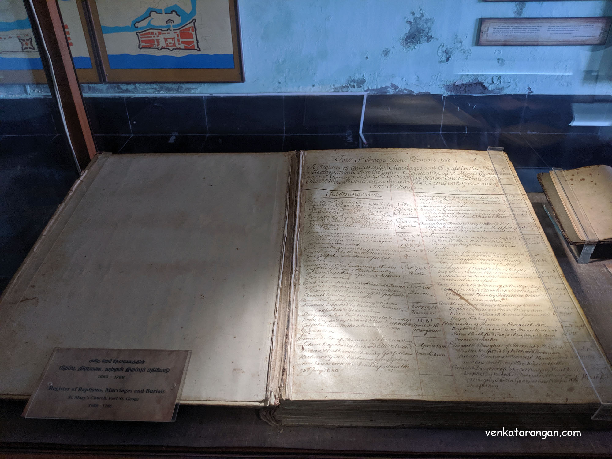 Register of Baptisms, Marriages and Burials - 1689-1786 — at Fort St. George, Madras, India