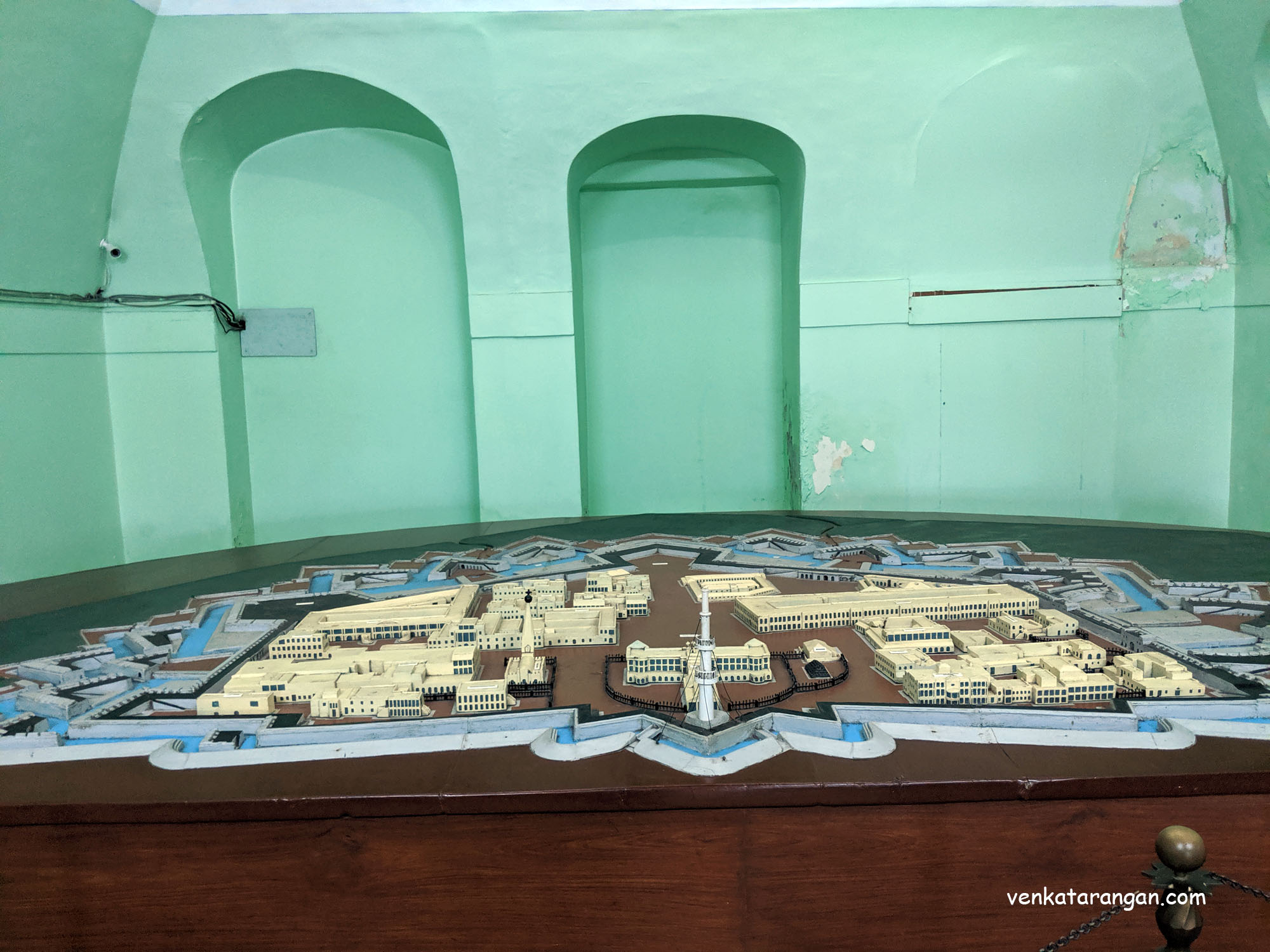 Model of Fort St. George, Chennai, India
