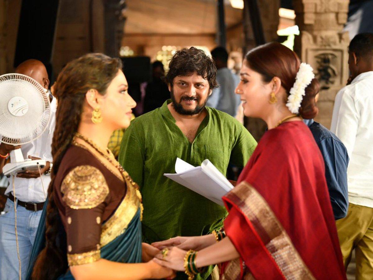 Tamannaah as Lakshmi and Nayanthara as Siddhamma