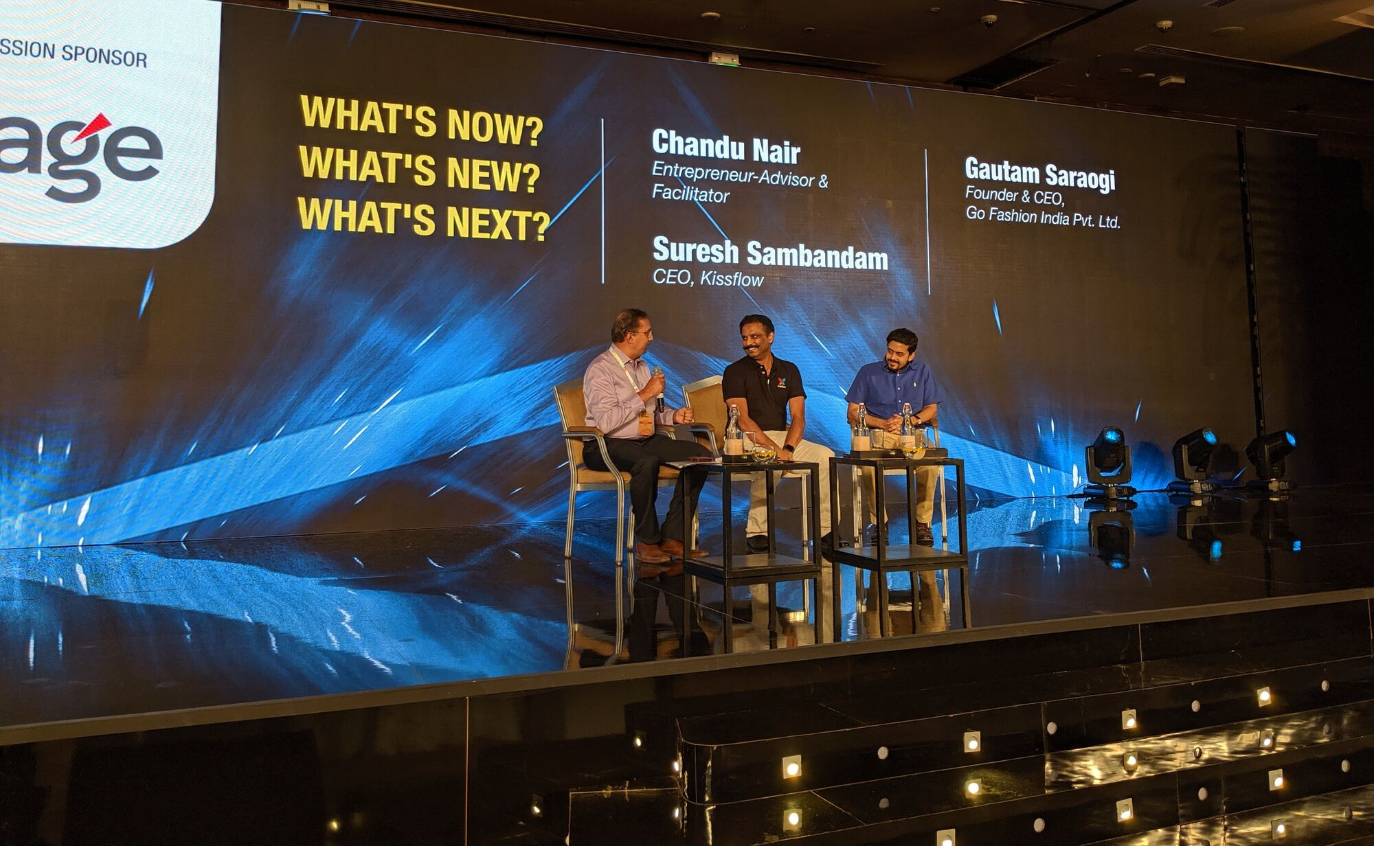 What's now, what's new, what's next? hosted by Mr Chandu Nair