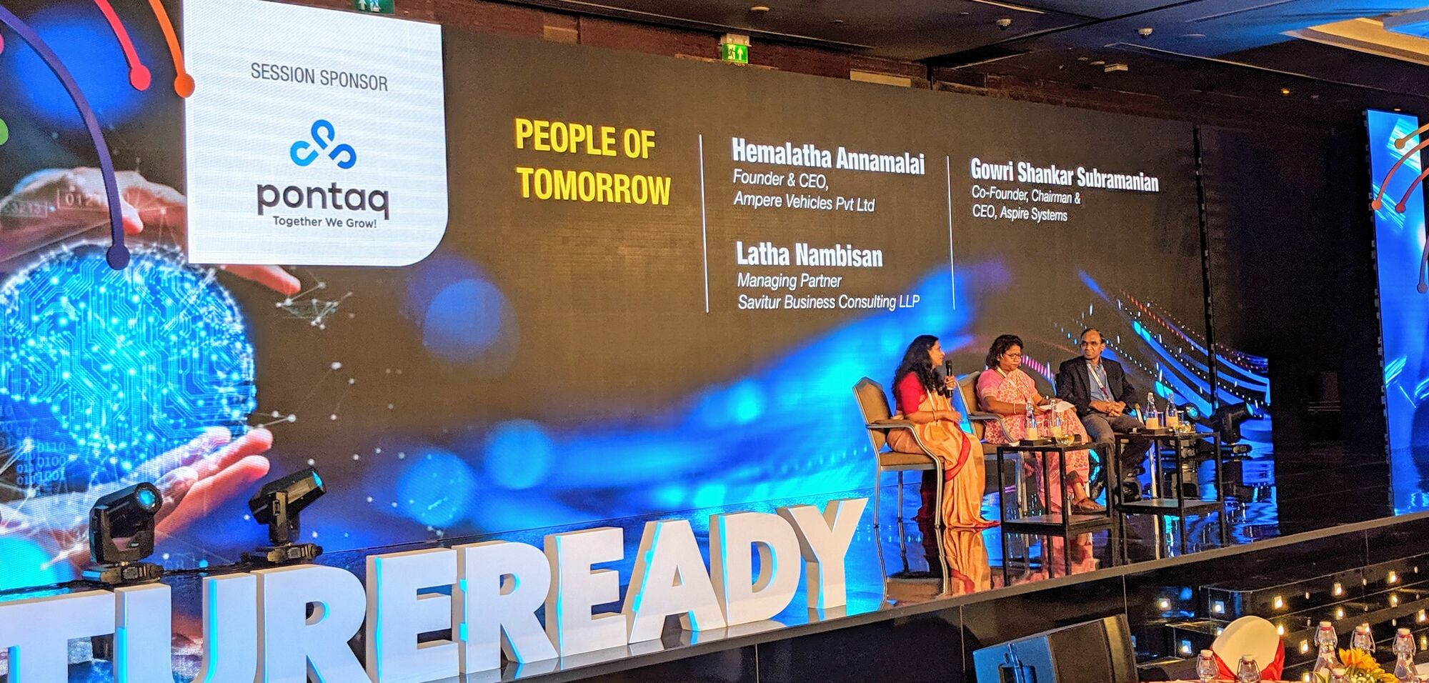 """People of tomorrow"" panel hosted by Ms Hemalatha Annamalai"