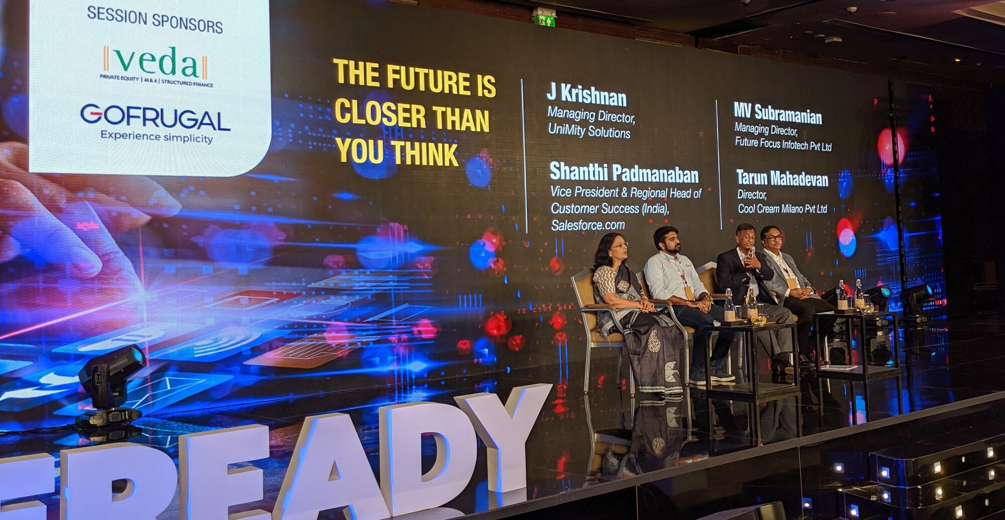 """The future is closer than you think"" panel hosted by J Krishnan"