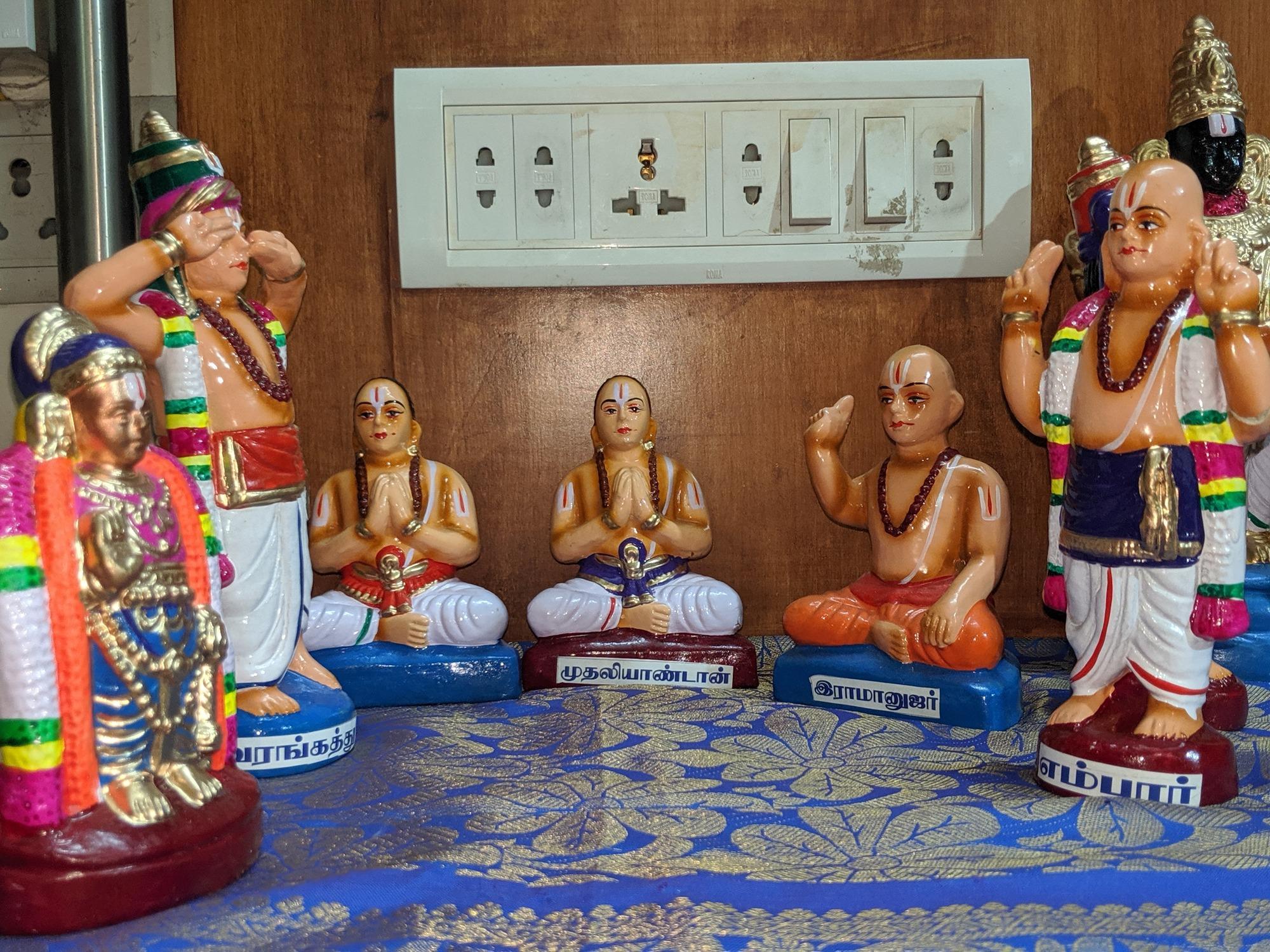திருவரங்கத்து அரையர், முதலியாண்டான், திரு இராமானுஜர், எம்பார்
