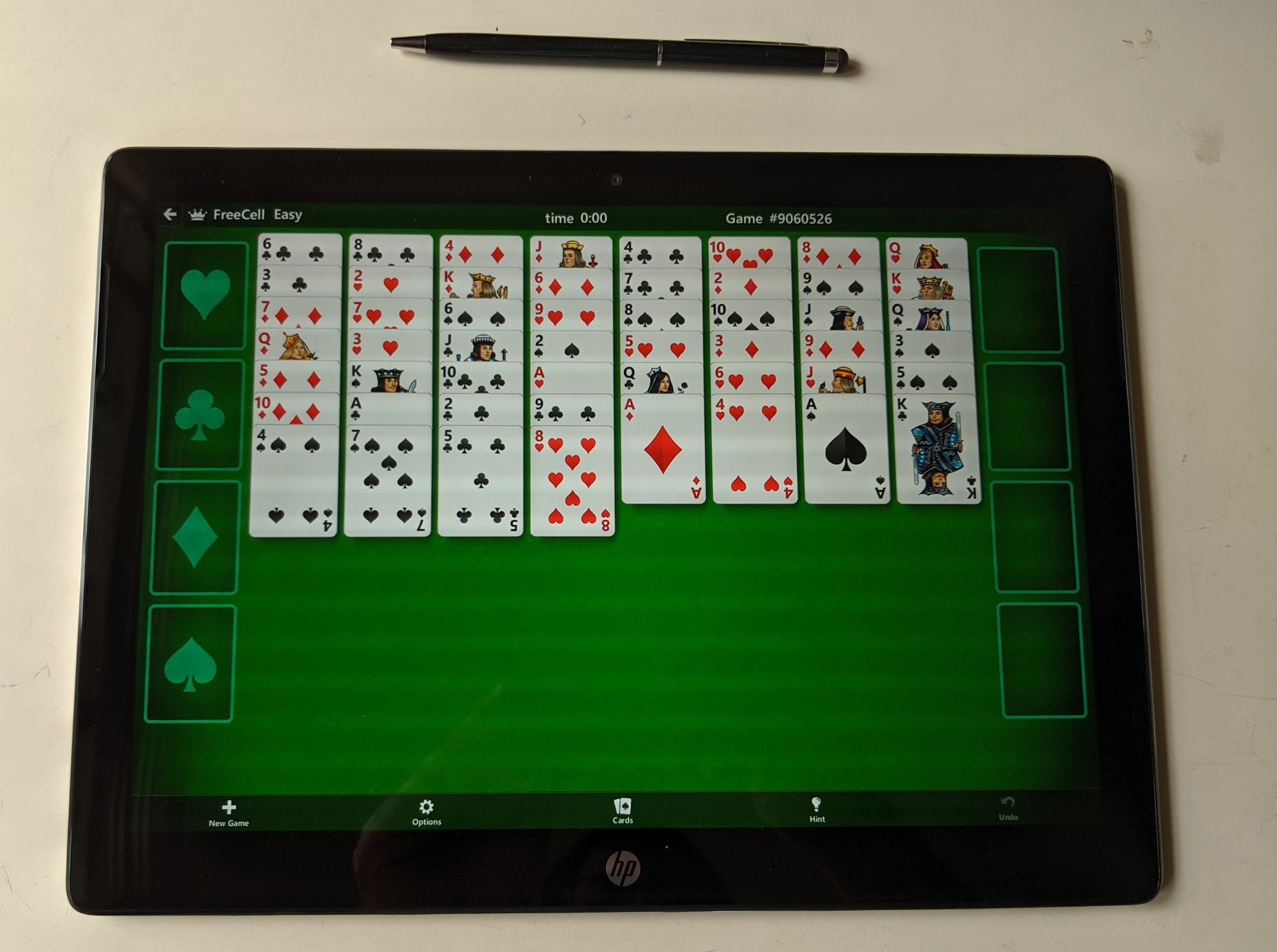 Microsoft Solitaire Android app running on HP Chromebook x2