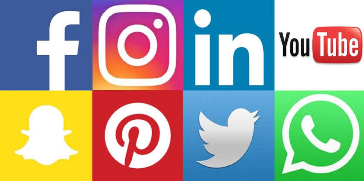 Facebook, Twitter, Pinterest and Linkedin - Social Media