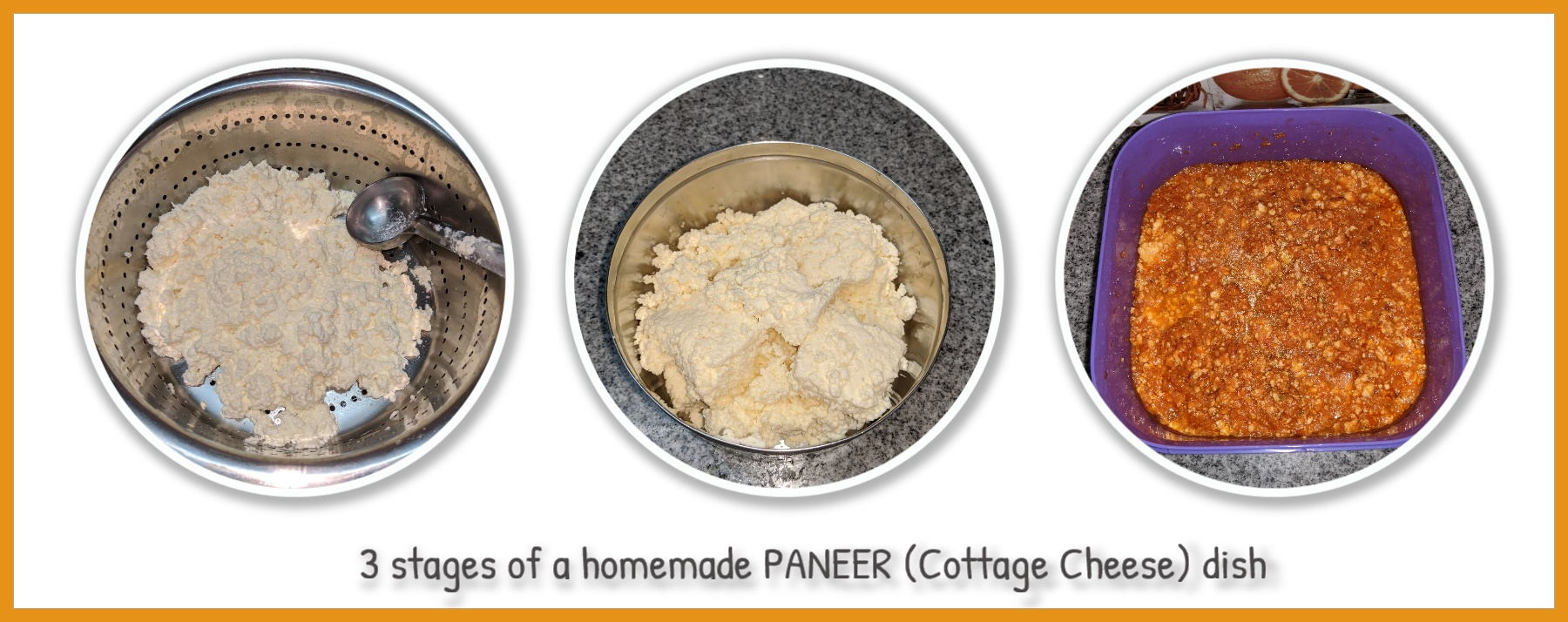 3 steps for a homemade paneer dish