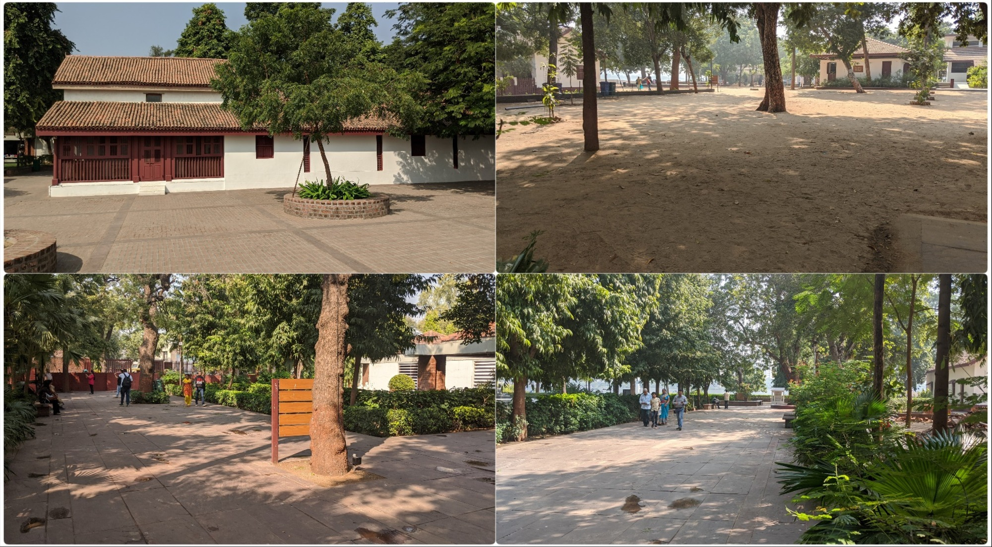 Cottages and pathways in Sabarmati Ashram