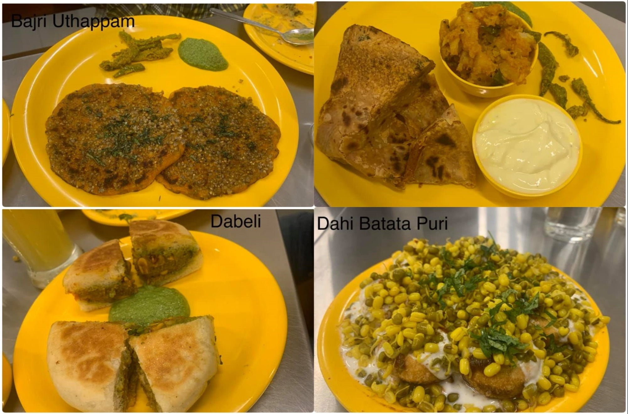Bajri Uthappam, Roti, Dabeli & Dahi Batata Puri