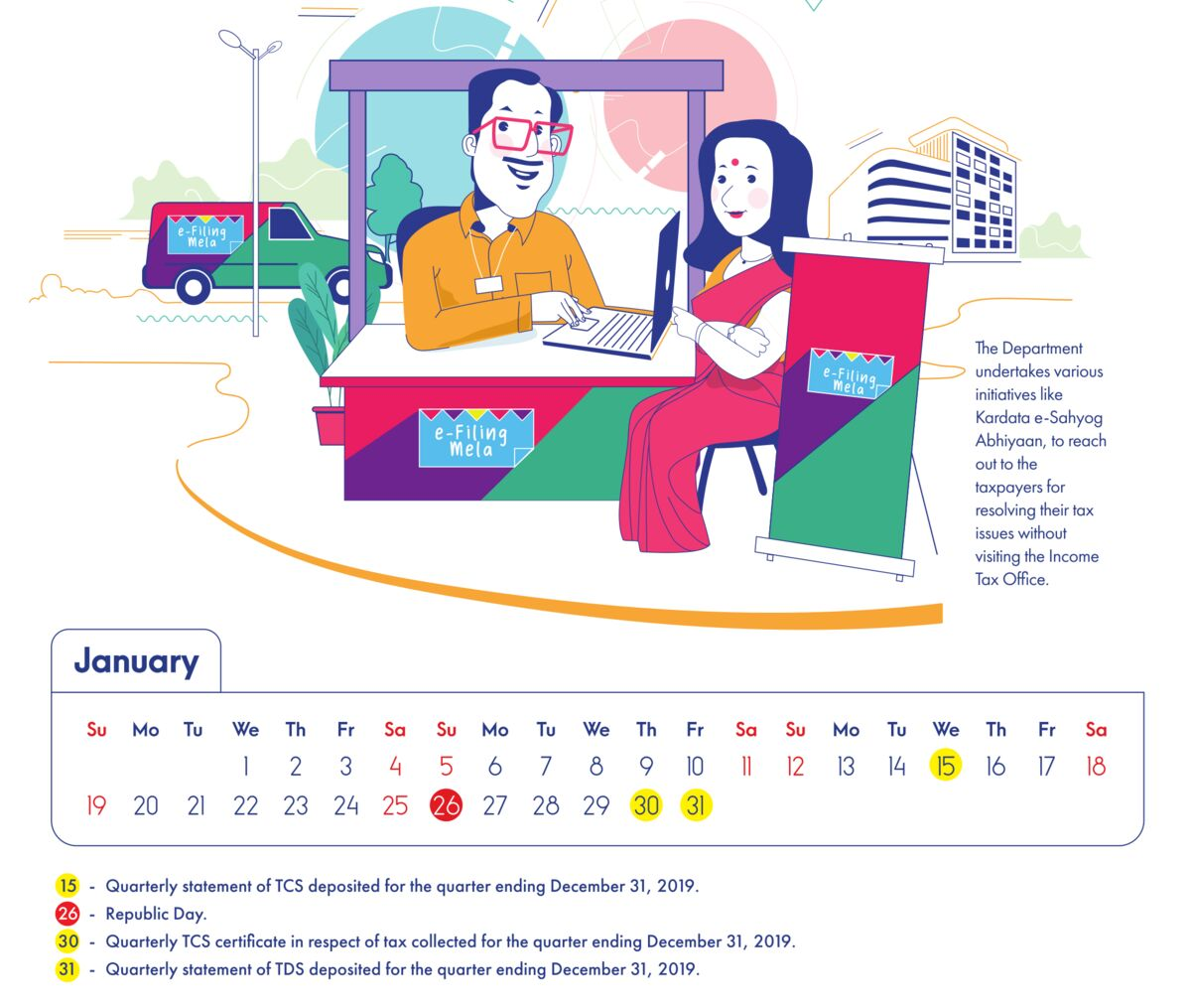 Calendar 2020 by India Income Tax Department
