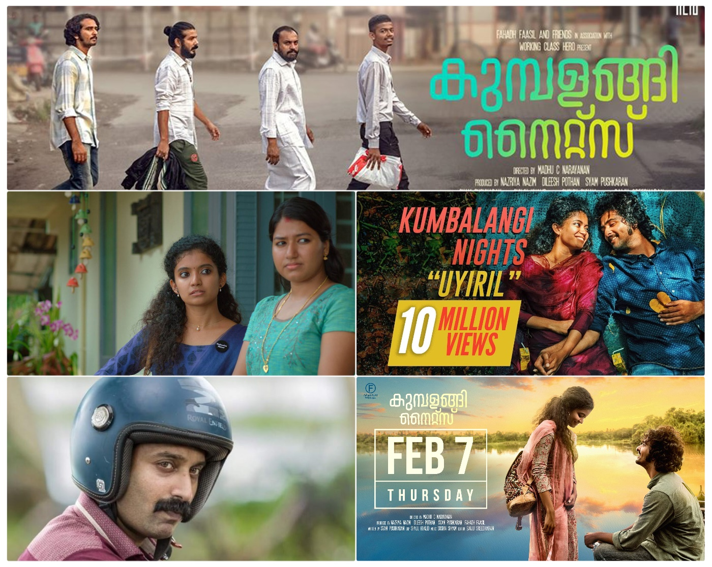 Kumbalangi Nights - Fahadh Faasil, Shane Nigam, Anna Ben & others