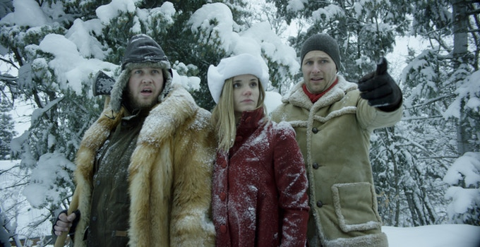 Jake Van Wagoner, Clare Niederpruem and Maclain Nelson in My Brother the Time Traveler (2017)