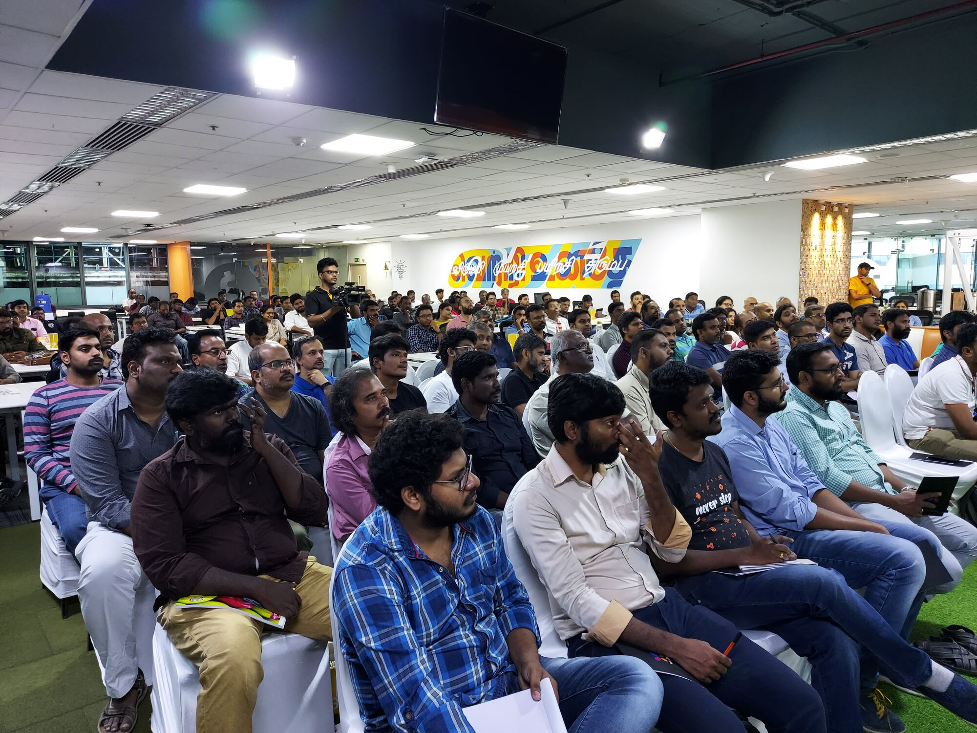 CTOTalk at Orangescape had a packed hall of over 200 participants today