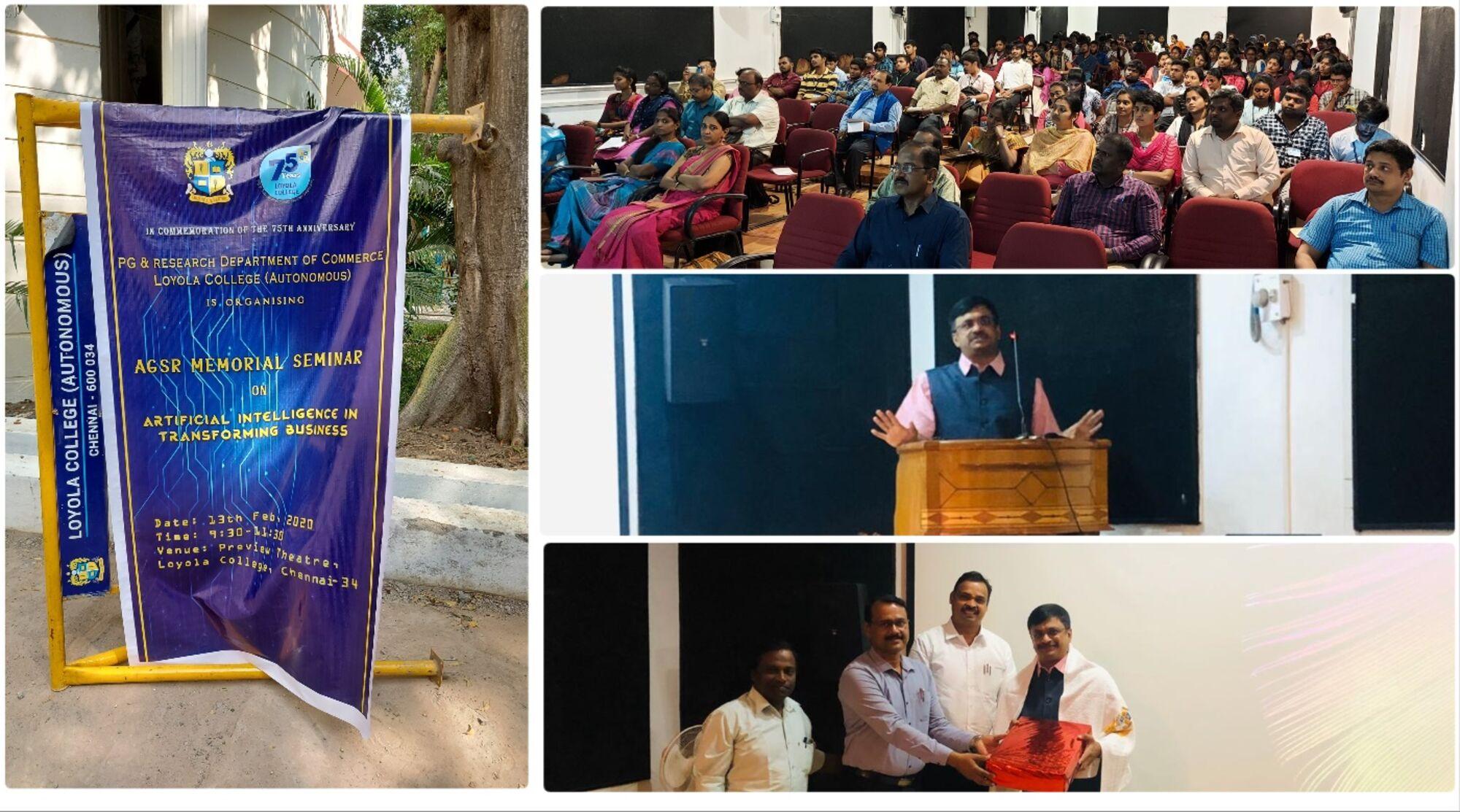 Prof A G Soundara Rajan Memorial Seminar - Artificial Intelligence by Venkatarangan