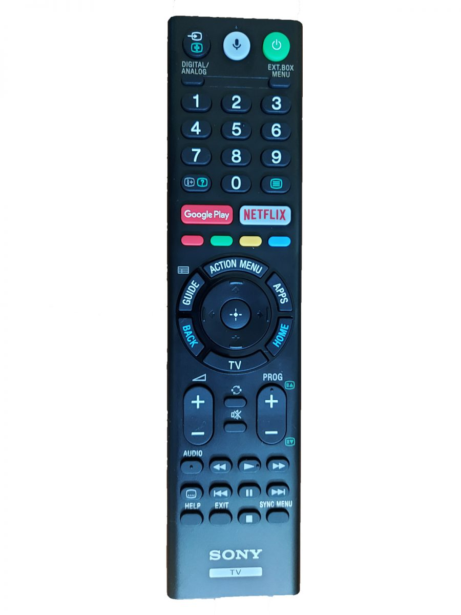 Remote control of Sony KD-43X8000G with a dedicated button for Netflix