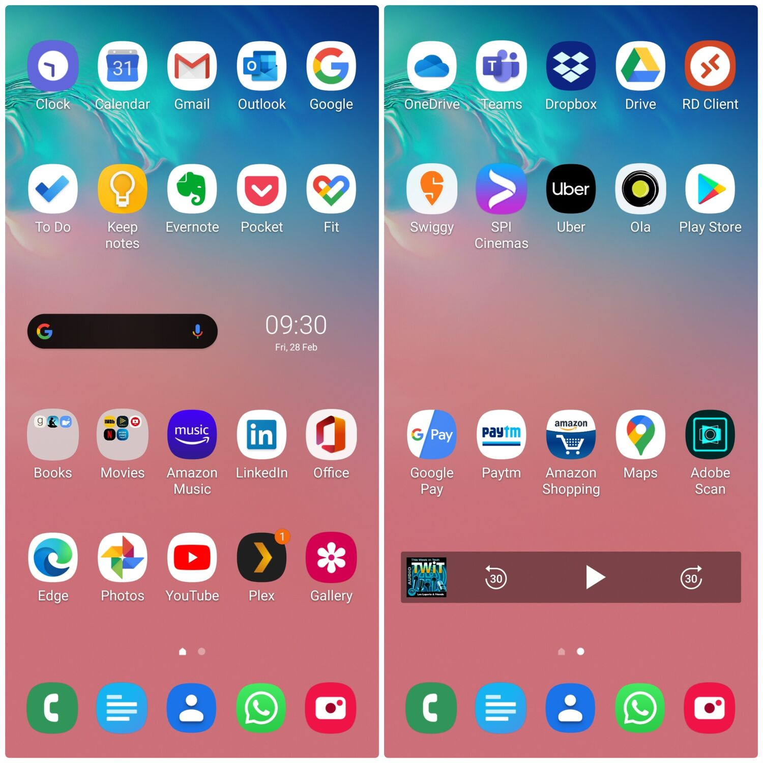 Apps that I have installed in the home screen - Samsung Galaxy S10 Lite