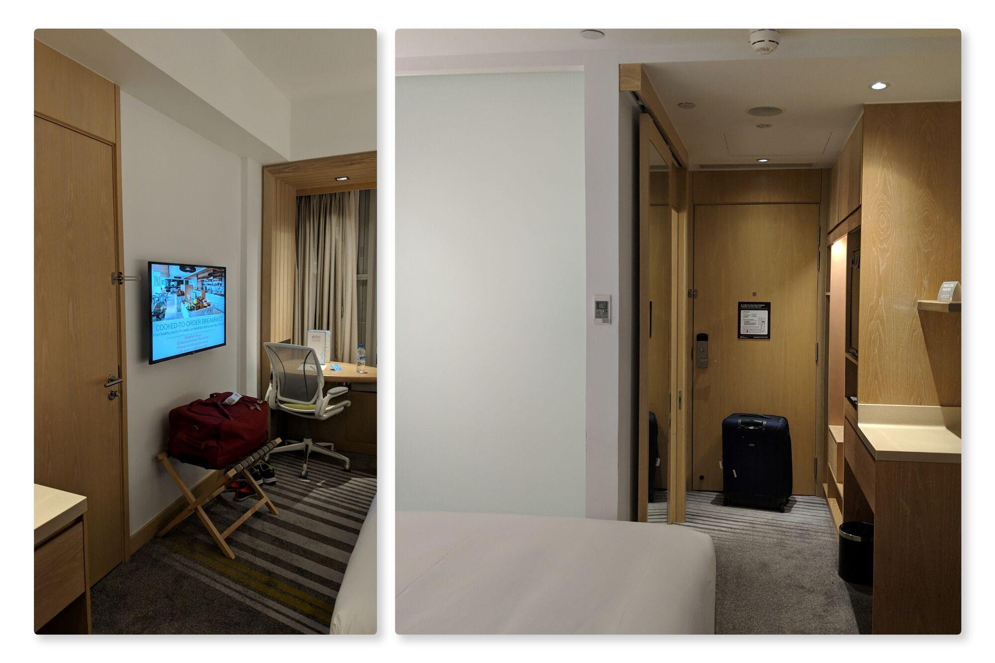 Inside view of King Deluxe Room, Hilton Garden Inn, Singapore