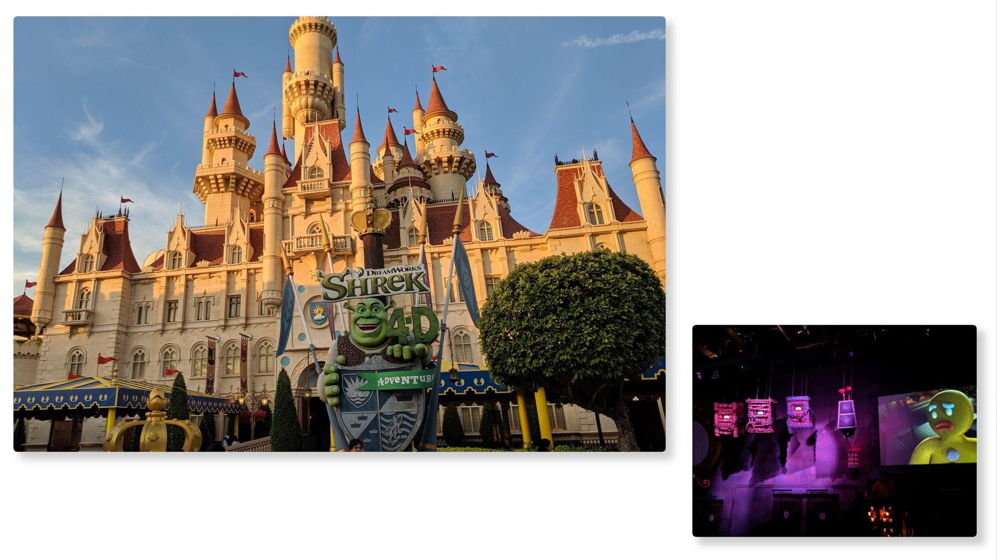 Dreamworks Shrek castle and show
