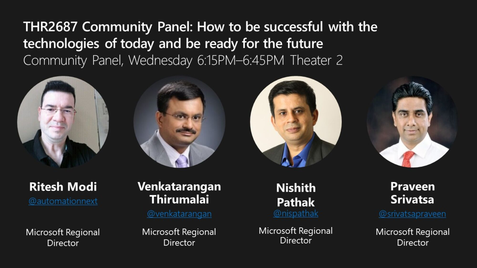 How to be successful with the technologies of today and be ready for the future? A panel.