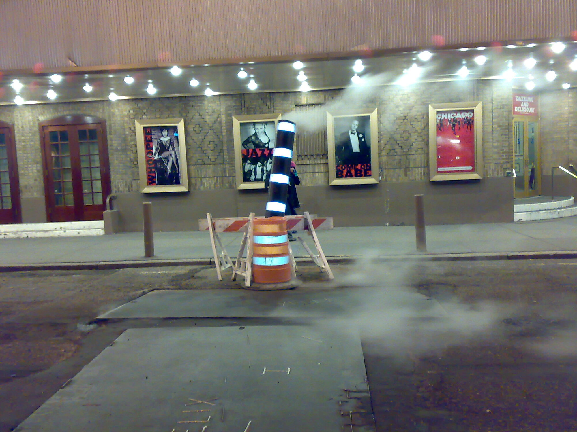 Roads in New York smoke. You see constant hissing and fumes from the underground.