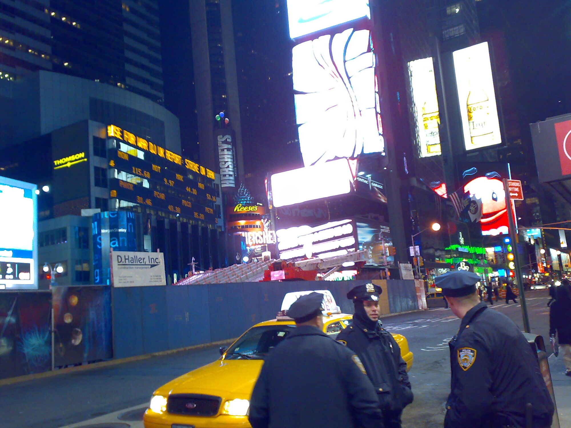 NYPD on duty