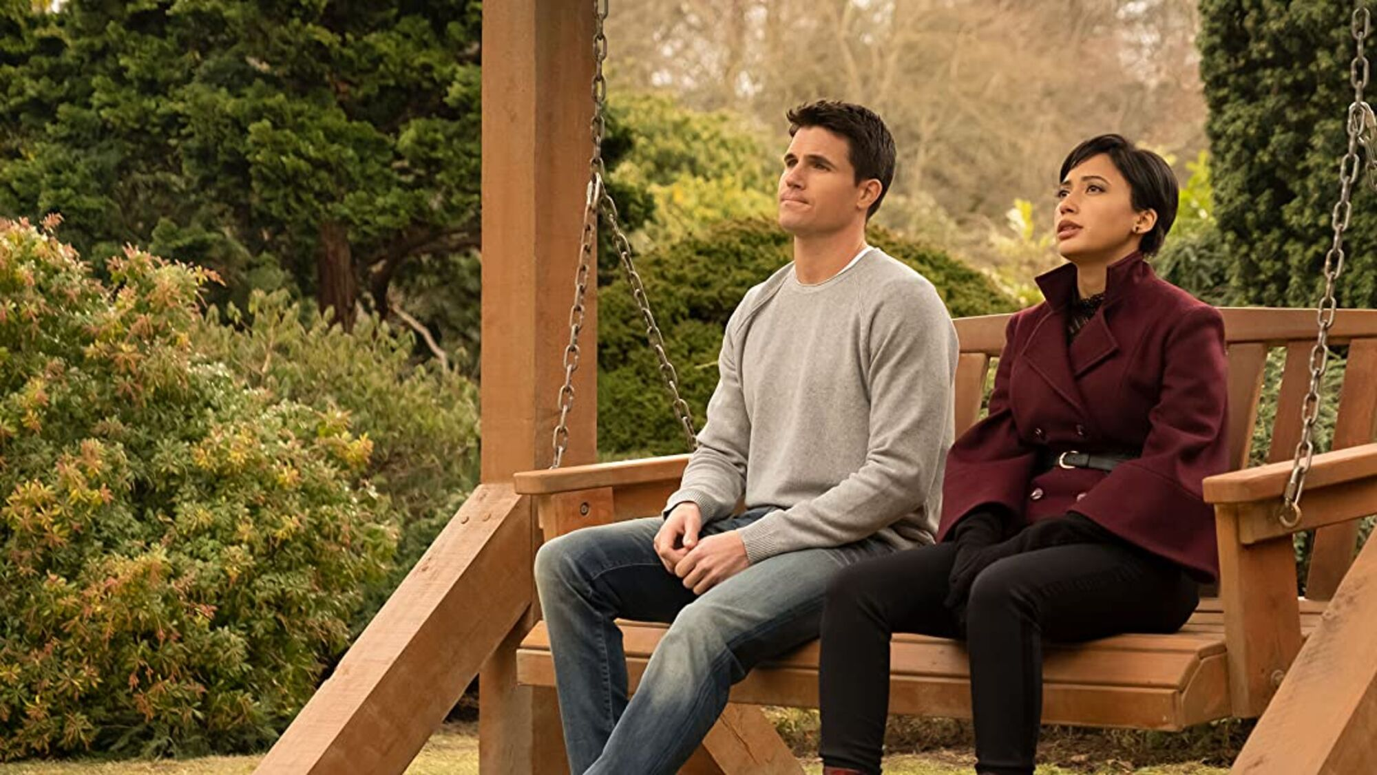 "Amazon Original ""Upload"" - Robbie Amell and Andy Allo"