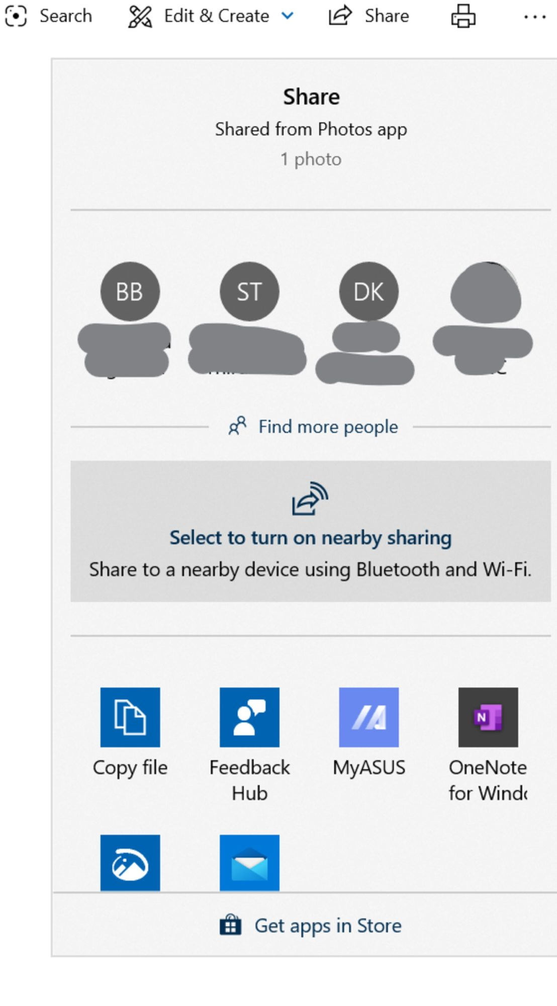 Windows 10 does have a Share Sheet in a few built-in apps like Photos and even in the File Explorer (hard to find)
