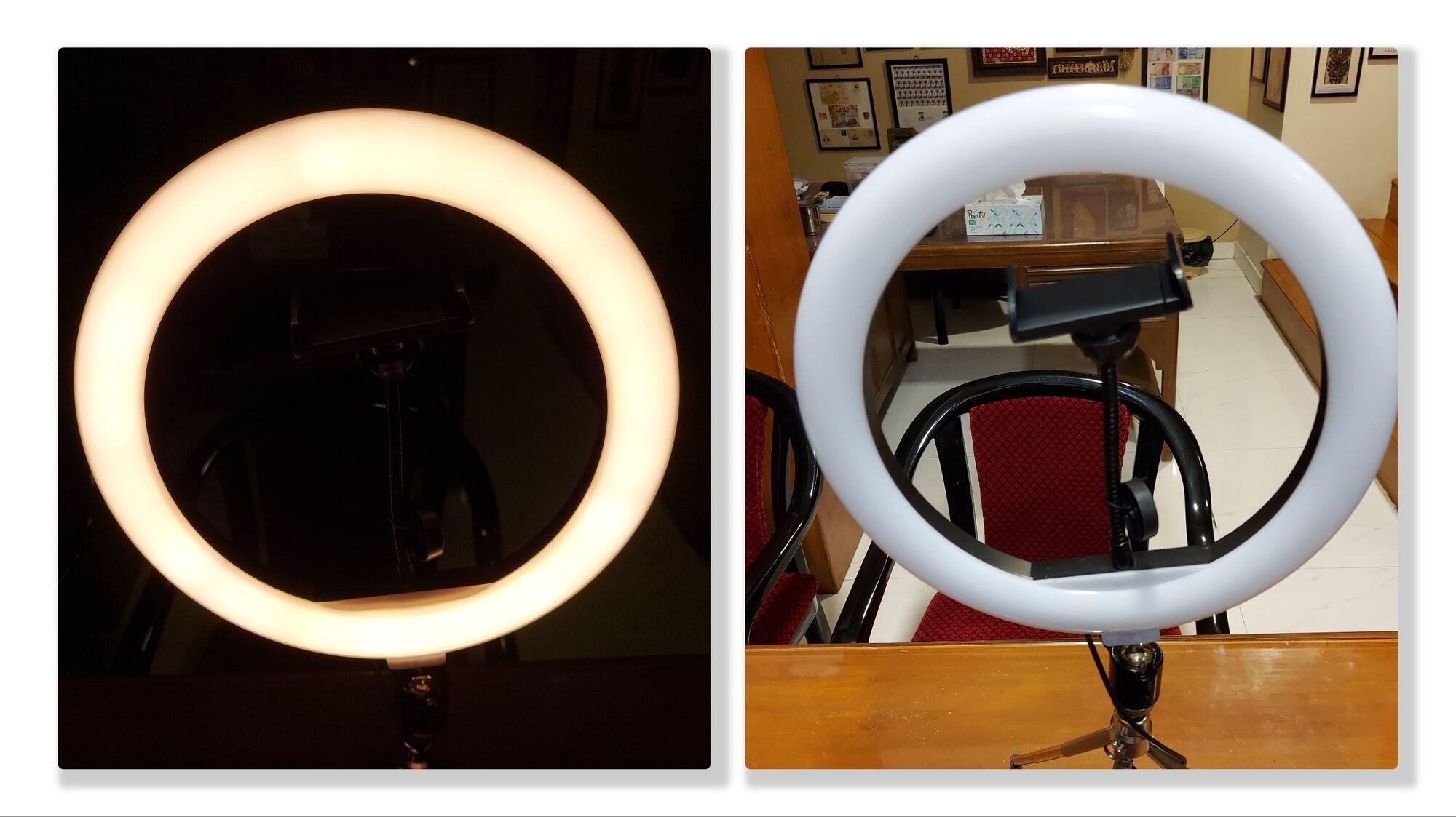 Half-white hue of the Selfie Ring Light