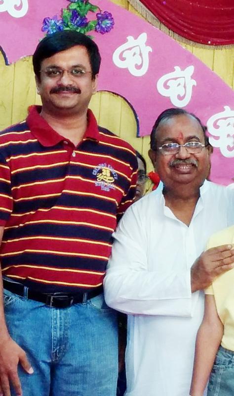 T.N.C.Venkatarangan with Professor A. Gangadharan (Former Head of the Department, Mathematics in Sri Venkateswara College of Engineering, Sriperumbudur, Tamil Nadu).
