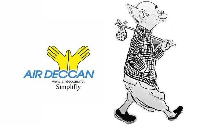 R K Laxman's Common Man - Air Deccan
