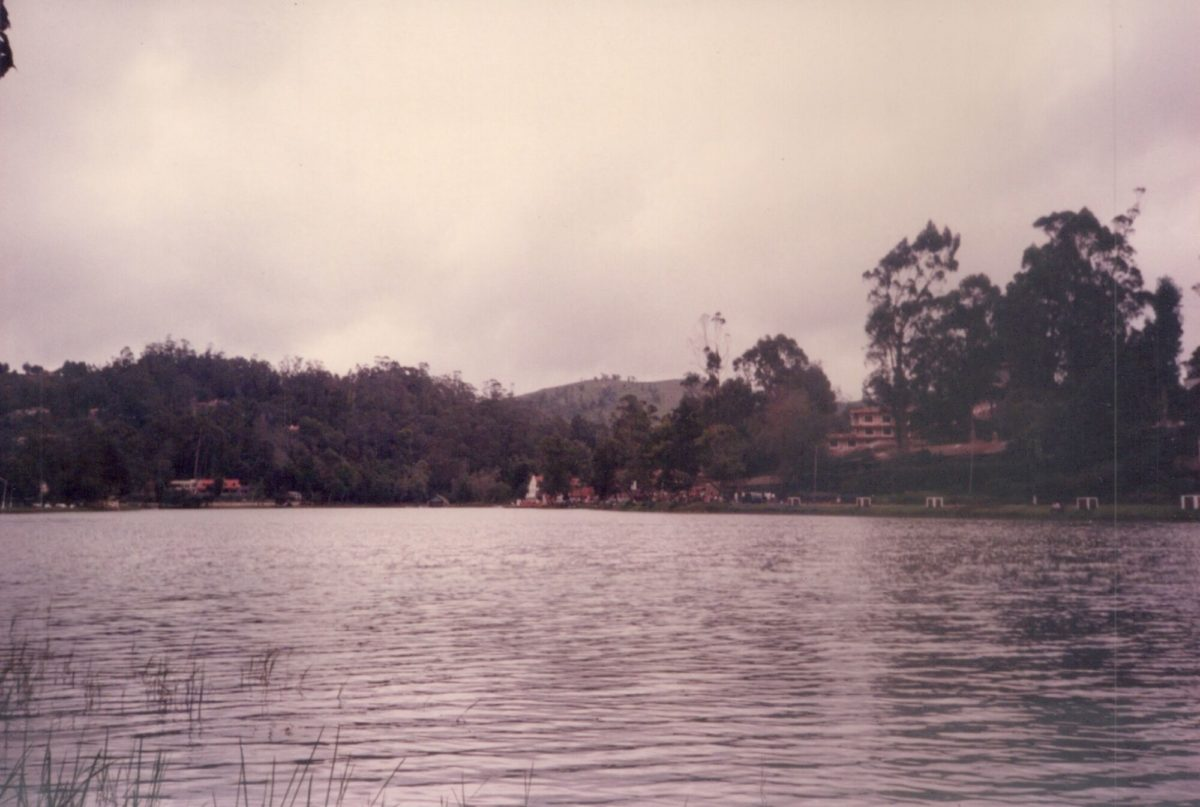 View of Ooty lake in 1995