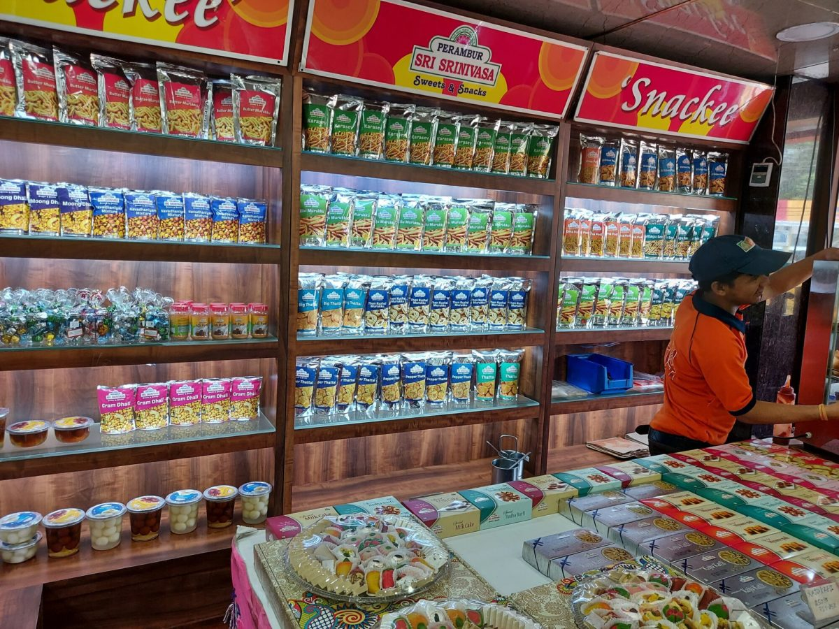 Snacks on display - Perambur Sri Srinivasa Sweets & Snacks