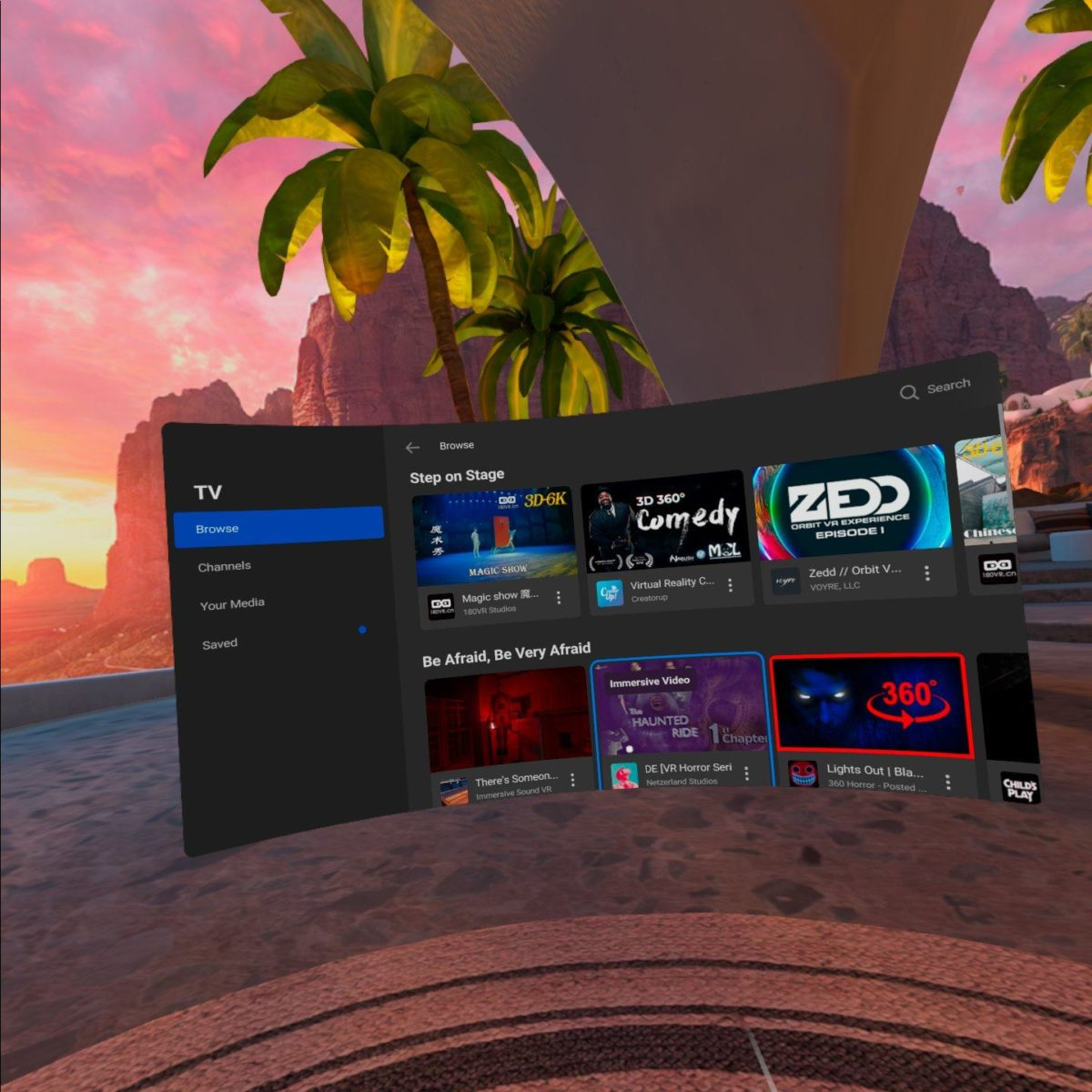 Quill Theater curated content in VR