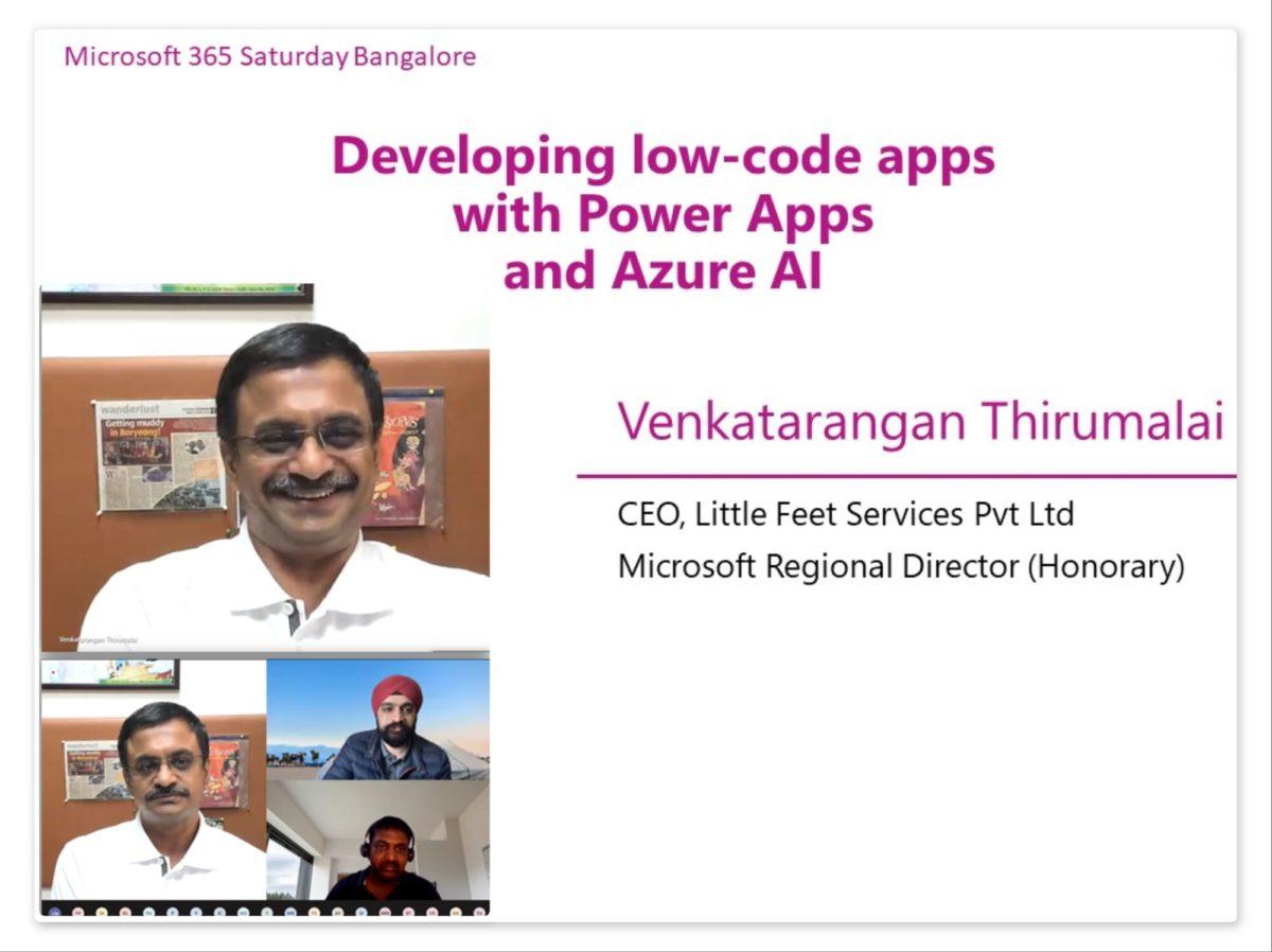 Developing low-code apps with Microsoft Power Apps and AI Builder by Venkatarangan Thirumalai