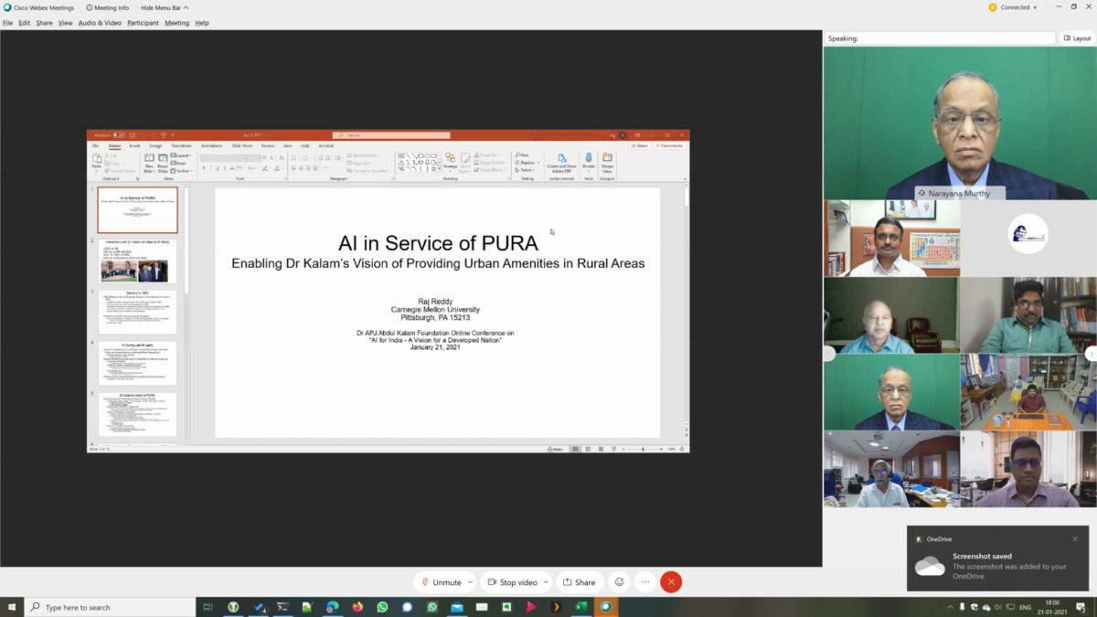 Professor Dr Raj Reddy - AI in Service of PURA - Dr Kalam's vision of Providing Urban Amenities in Rural Areas