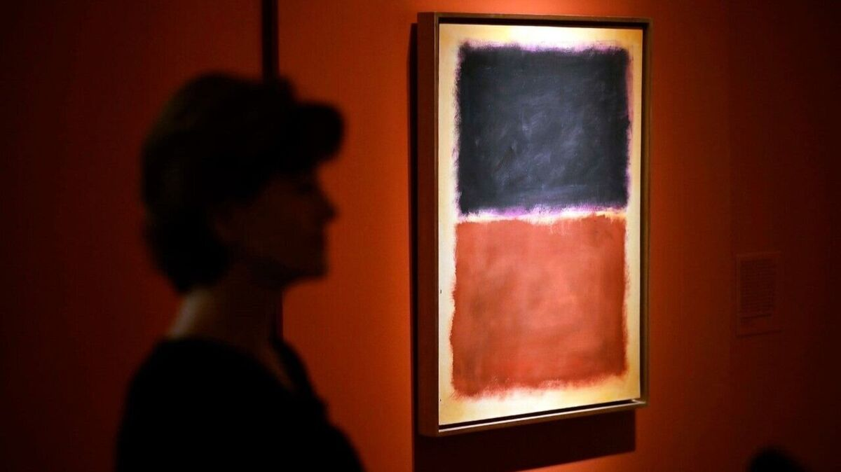 The fake painting claiming to be of Mark Rothko