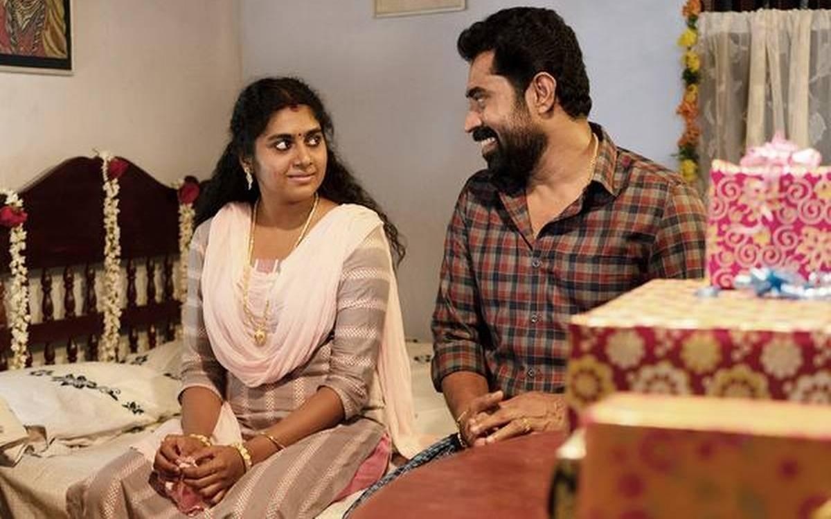 Nimisha Sajayan as the Wife and Suraj Venjaramoodu as the Husband