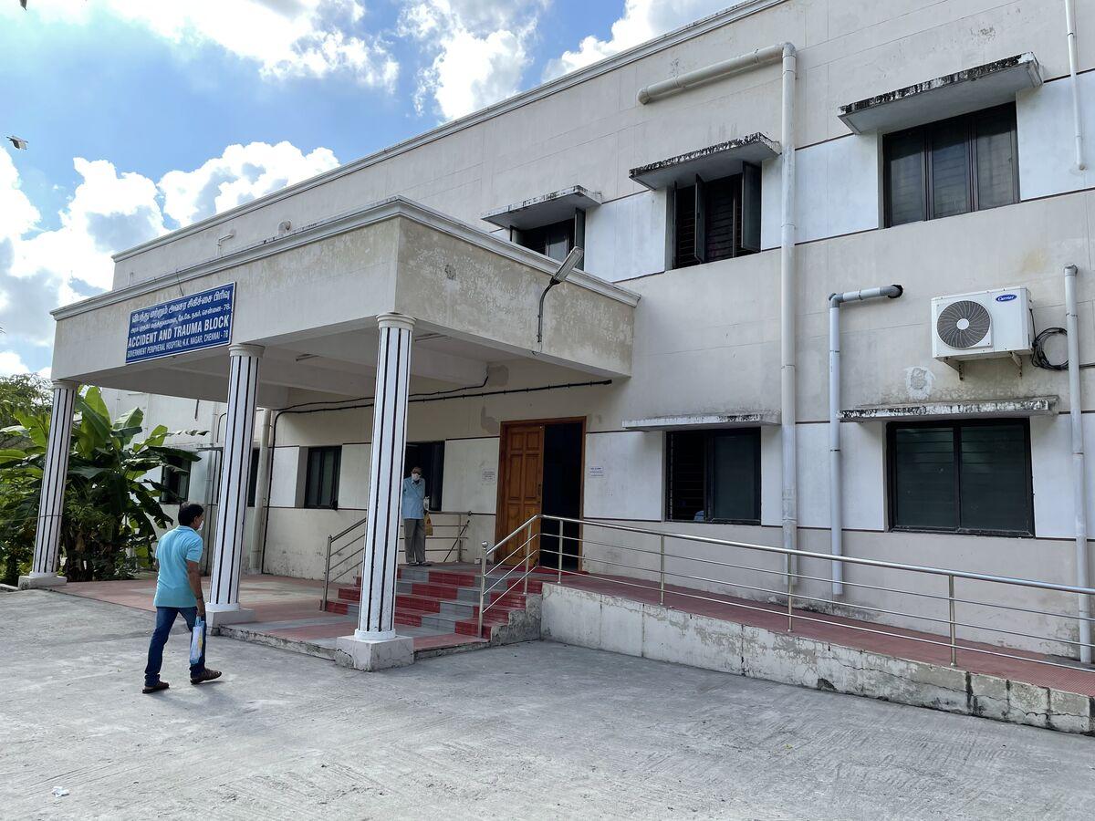 Vaccination block is behind the main hospital - ESI Peripheral Hospital, KK Nagar, Chennai