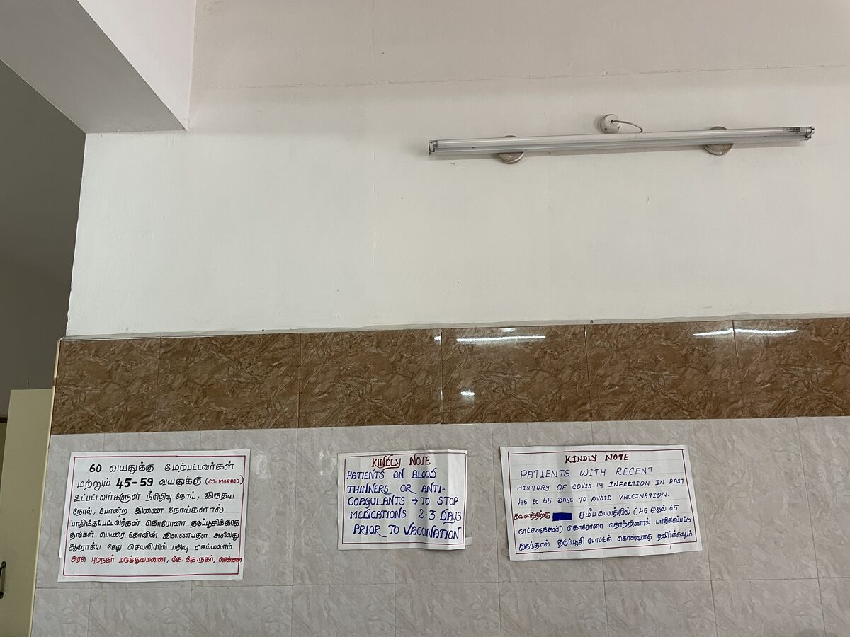 Clear instructions were pasted on patients using blood thinners and for those who had earlier COVID infection