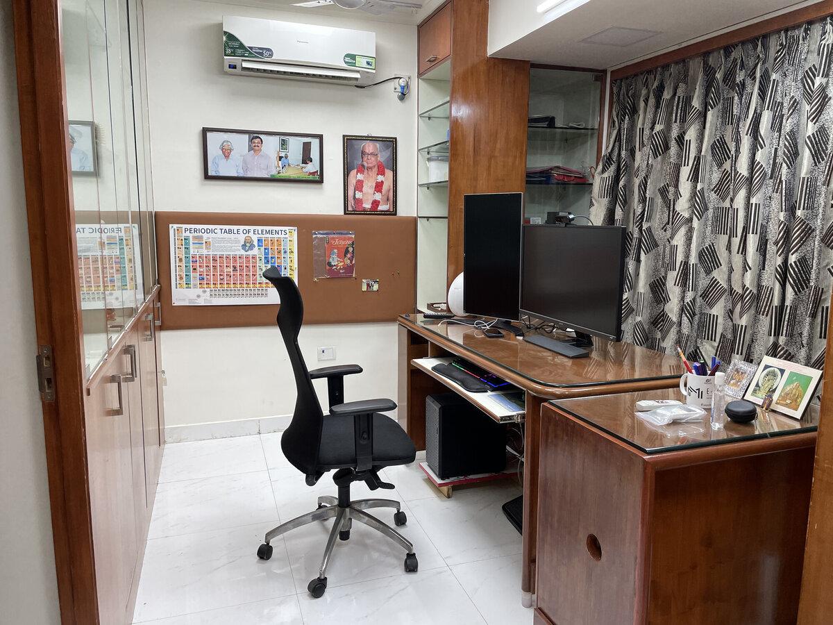 My work desk in my office room (den)