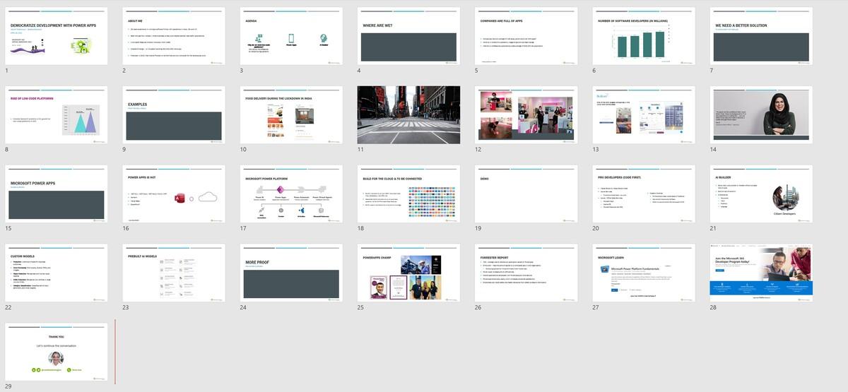 Slide deck - Democratize development with Power Apps