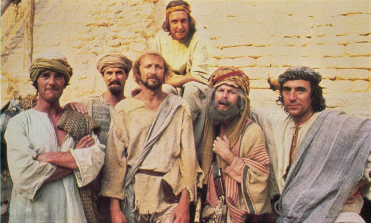 In the centre is Graham Chapman as Brian Cohen of Nazareth